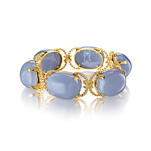 Verdura-Jewelry-Pebble-Bracelet-Gold-Chalcedony