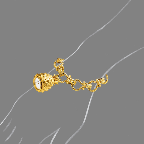 Verdura-Jewelry-Pineapple-Pendant-Watch-Scale-Rendering