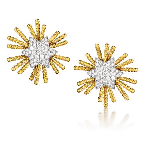 Verdura-Jewelry-Pleidaes-Earclips-Gold-Diamond