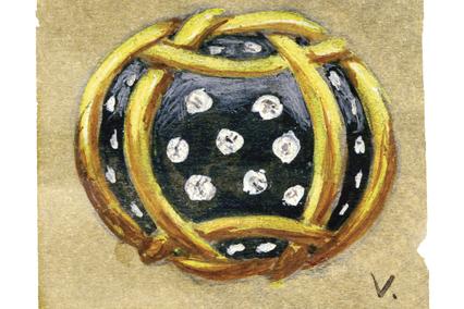 Verdura-Jewelry-Polka-Dot-Ring-Sketch-R22