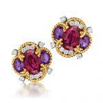 Verdura-Jewelry-Quatrefoil-Earclips-Gold-Rubellite-Amethyst-Diamond-150x150