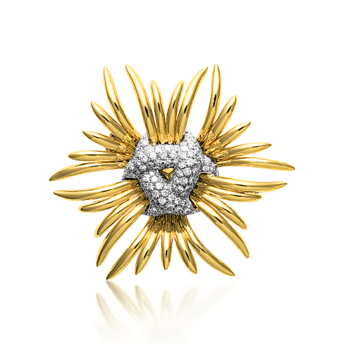 Verdura-Jewelry-Ray-Brooch-Gold-Diamond