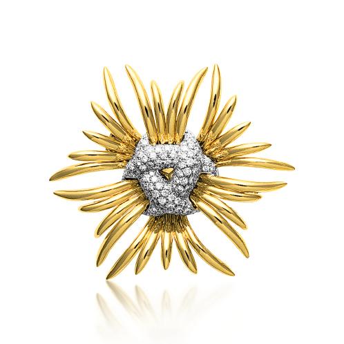 Verdura-Jewelry-Ray-Brooch-Gold-Diamond