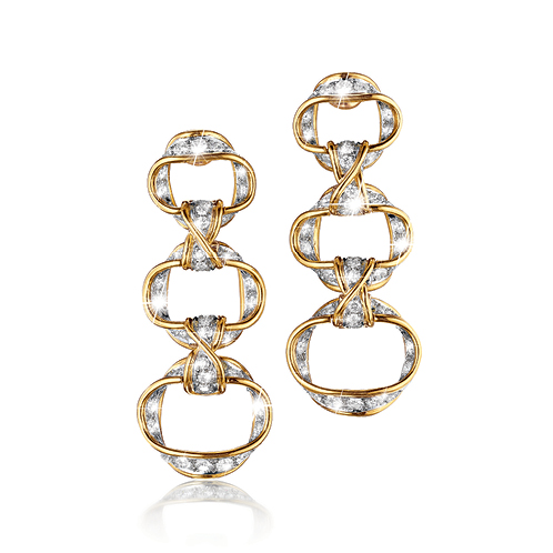 Verdura-Jewelry-Ribbon-Pendant-Earrings-Gold-Diamond