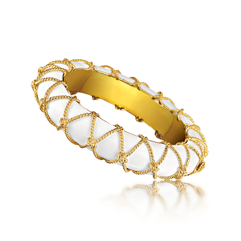 Verdura-Jewelry-Rope-Net-Bangle-Cocholong-Gold