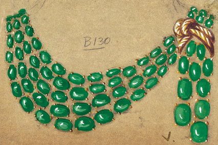 Verdura-Jewelry-Scarf-Necklace-Sketch-N268-Landscape