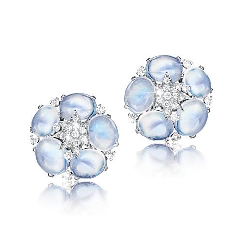 Verdura-Jewelry-Stardust-Cluster-Earclips-Moonstone