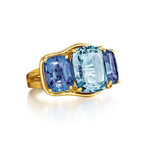 Verdura-Jewelry-Three-Stone-Ring-Gold-Aquamarine-Iolite