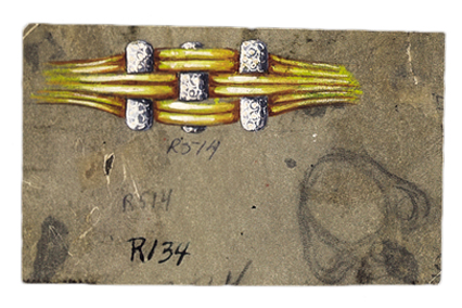 Verdura-Jewelry-Trio-Ring-Sketch