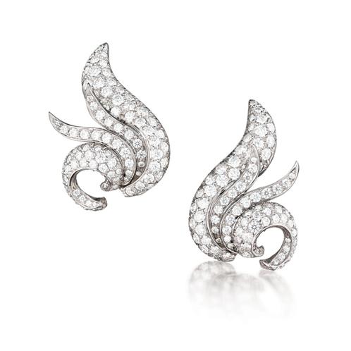 Verdura-Jewelry-Watch-Earclips-Diamond