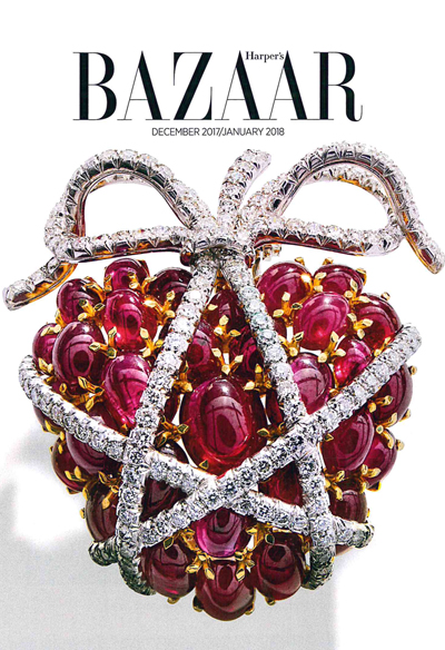 Verdura-Jewelry-Wrapped-Heart-Brooch-Harpers-Bazaar-December-2017
