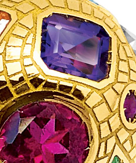 Verdura-Jewelry_Mosaic-Fulco-Earclip