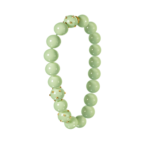Verdura-Jewelry-Studded-Bead-Necklace-Chrysoprase-and-gold