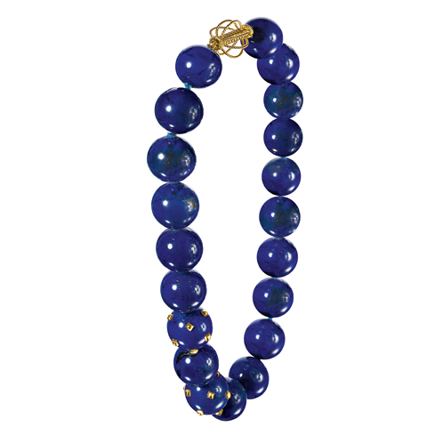Verdura-Jewelry-Studded-Bead-Necklace-Lapis-and-Gold