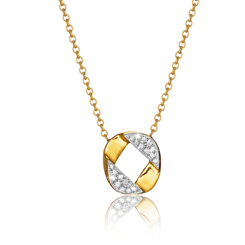 Verdura-Jewelry-Curb-Link-Piccolo-Pendant Necklace-Gold-Diamond-2018