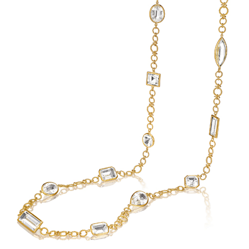 Verdura-Jewelry-White-Confetti Necklace-Gold-Rock Crystal-2018