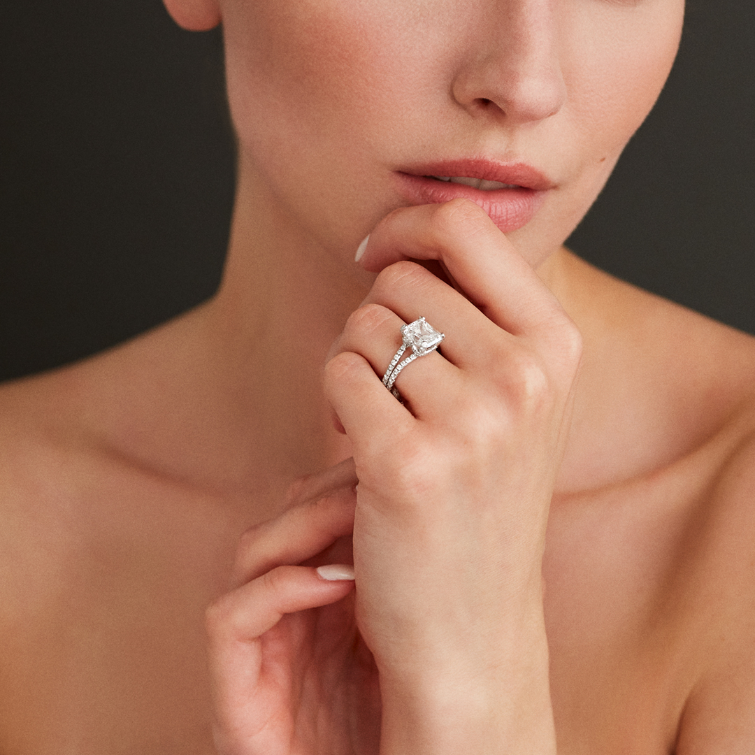Lace Solitaire Ring