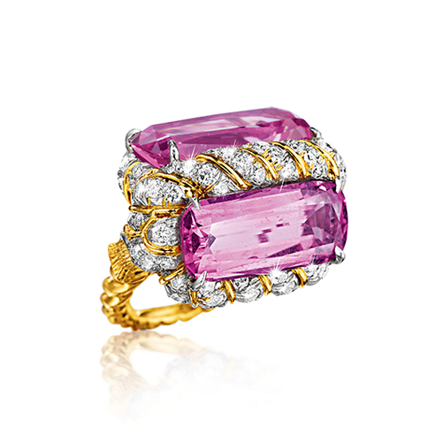 Verdura-Jewelry-Vintage-Twisted-Ring-Pink-Topaz-Diamond-Gold