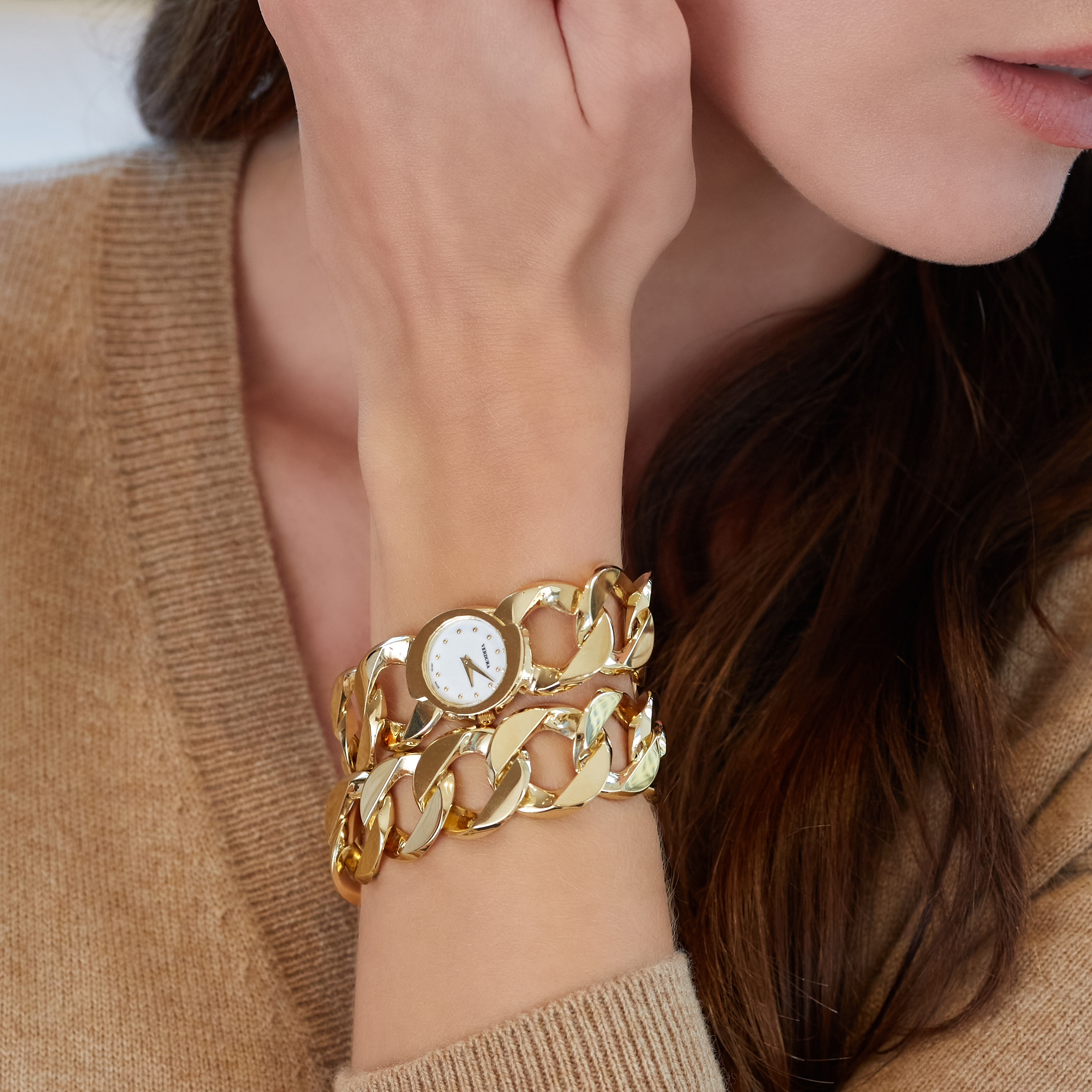 Curb-Link Bracelet and Watch
