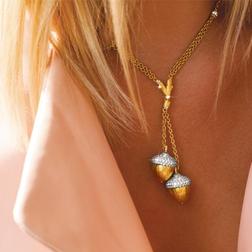 acorn lariat necklace