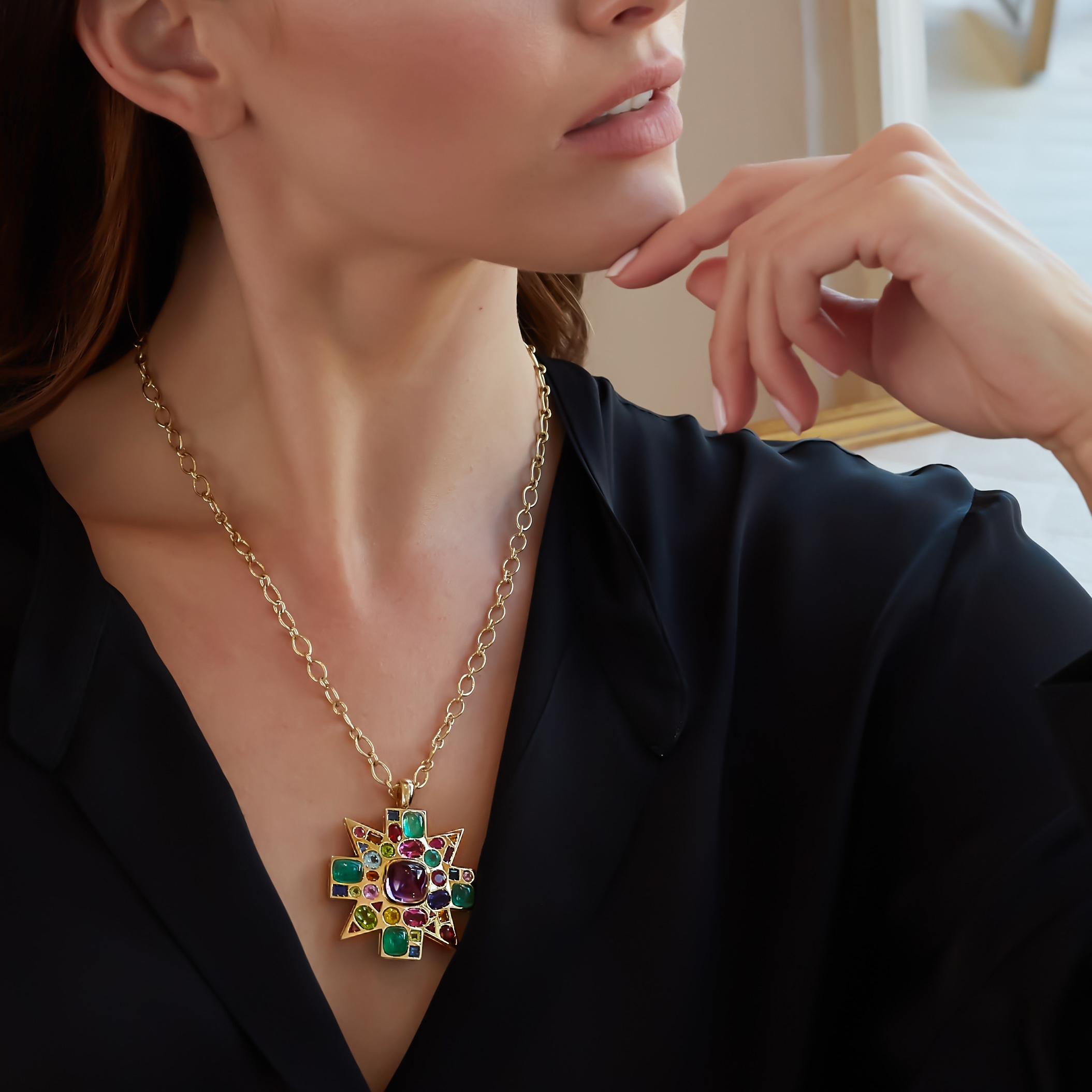Baby Byzantine Pendant Necklace _Model