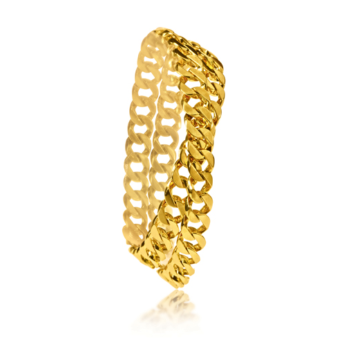 Verdura-Jewelry-Curb-Link-Bracelet-Mini-Double-Wrap-Gold