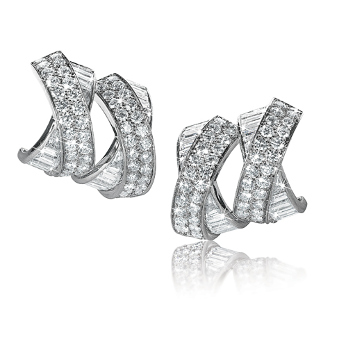 Verdura-Jewelry-Double-X-Earclips-Diamond