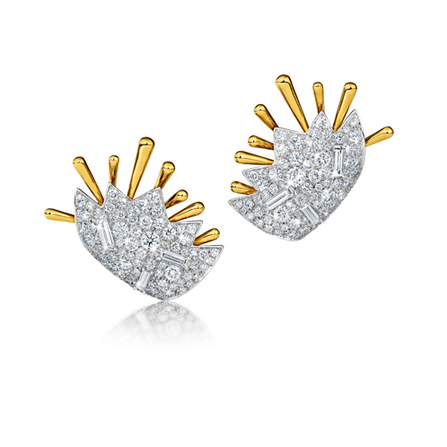 Verdura-Jewelry-Stardust-Ray-Earcuffs-Diamond-Gold