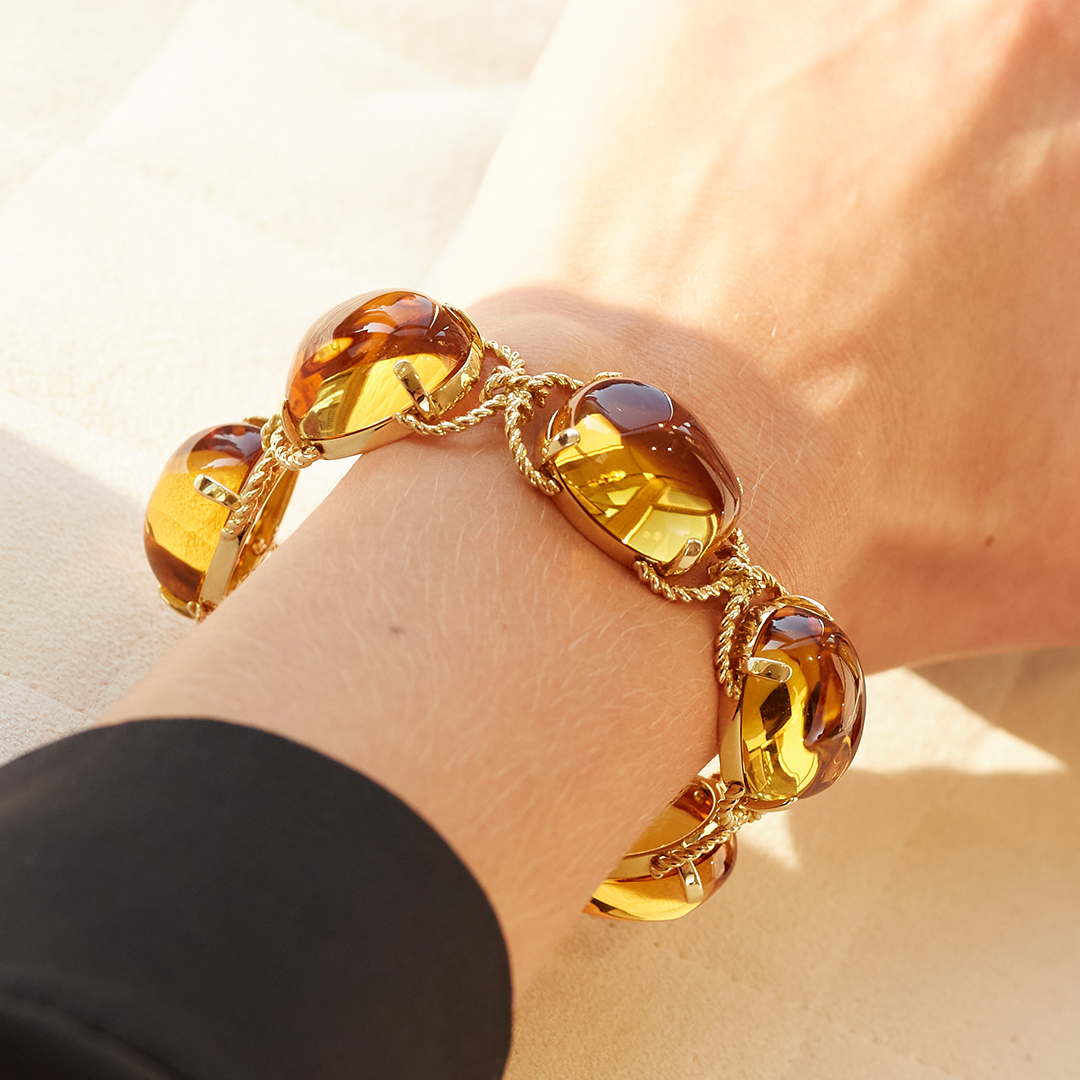 Pebble Bracelet Citrine