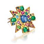 Verdura-Byzantine-Brooch-Sapphire-Emerald-2010-REV-2019-150x150