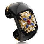 Verdura-Maltese-Cross-Cuff-Black-Jade-Ruby-Sapphire-2011-1-150x150