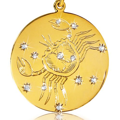 Verdura-Jewelry-Zodiac-Pendant-Necklace-Cancer-Gold-Diamond-detail