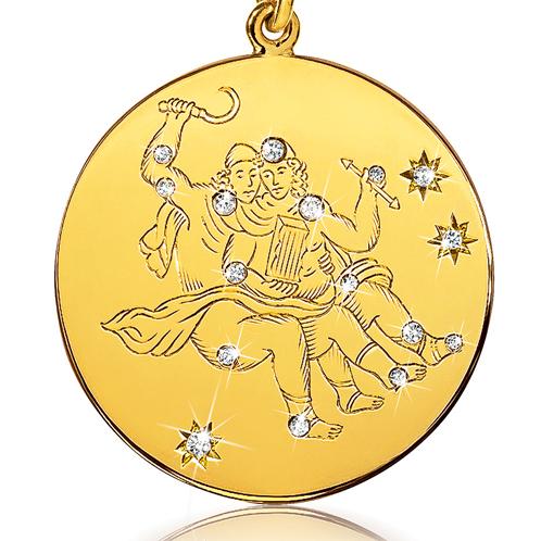 Verdura-Jewelry-Zodiac-Pendant-Necklace-Gemini-Gold-Diamond-detail