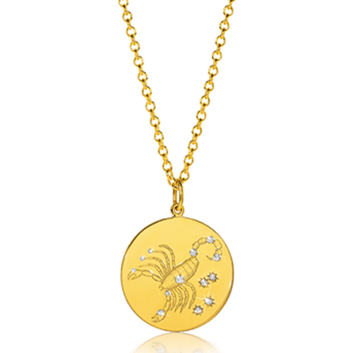 Verdura-Jewelry-Zodiac-Pendant-Necklace-Scorpio-Gold-Diamond