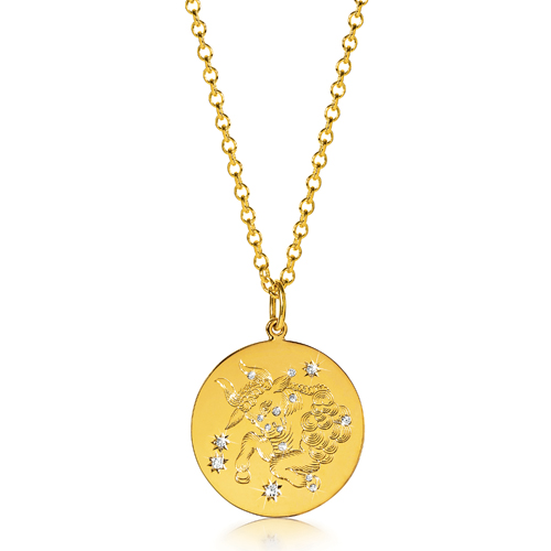 Verdura-Jewelry-Zodiac-Pendant-Necklace-Taurus-Gold-Diamond