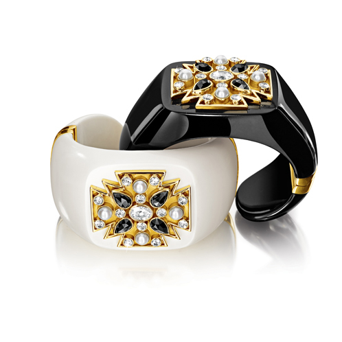 Black & White Maltese Cross Cuffs