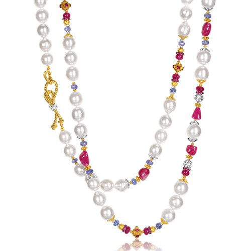 Verdura-Jewelry-Byzantine-Pearl-Necklace-Ruby-Sapphire-Gold