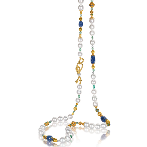 Verdura-Jewelry-Byzantine-Pearl-Necklace-Sapphire-Emerald-Gold
