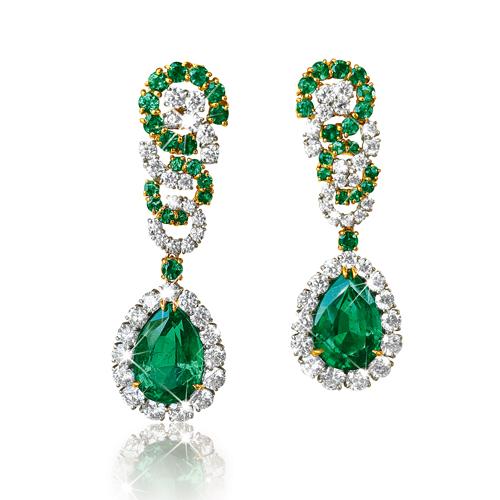emerald-cascade-earclips