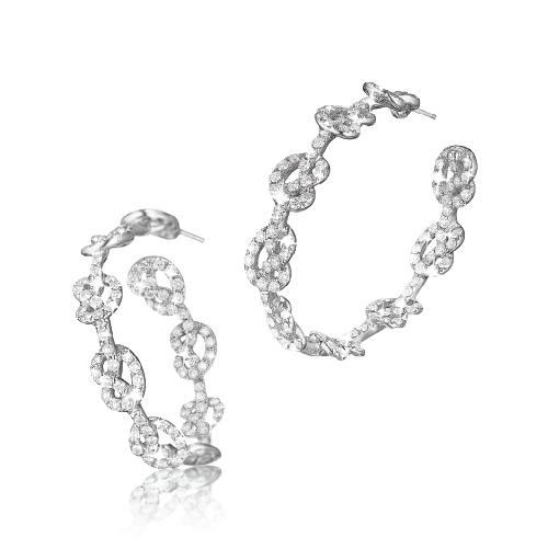 love knot hoop earrings