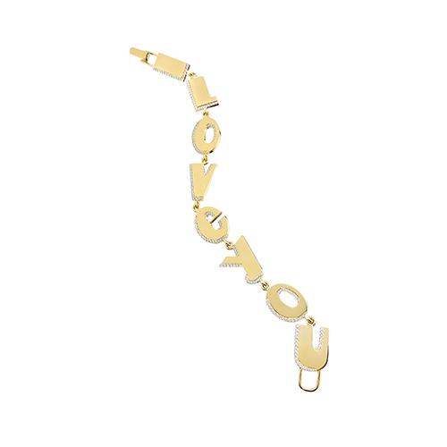 I Love You Bracelet with Diamonds