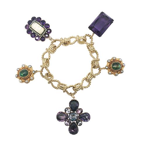 Multi Byzantine Charm Bracelet
