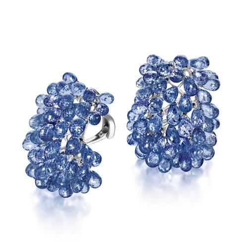 Verdura-Jewelry-Briolette-Earclips-Sapphire