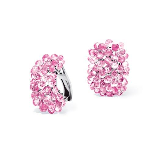 Briolette Earclips Pink Sapphire